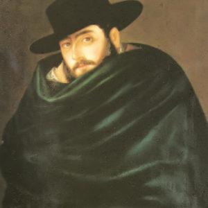 Autorretrato.|1854. Óleo sobre lienzo. 75,5x63 cm. Sociedad Centro Icodense. Icod de Los Vinos, Tenerife