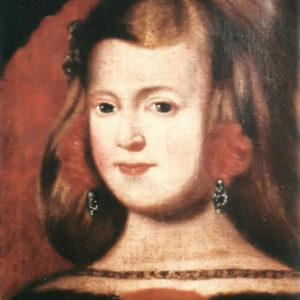 Retrato de la Infanta Margarita de Austria.|1852. Óleo sobre lienzo. 44x33,5 cm. Colección particular. Icod de Los Vinos, Tenerife