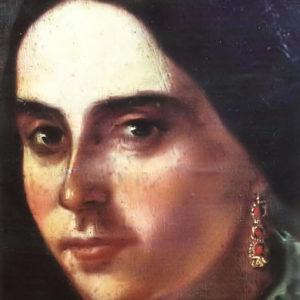 Retrato de la supuesta novia del pintor (detalle).|Óleo sobre lienzo. 58x38,7 cm. Colección particular. Icod de Los Vinos, Tenerife