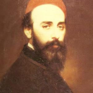 Retrato del pintor Don Ramón Rodríguez Barcaza.|1869. Óleo sobre lienzo. 48x37 cm. Museo de Cádiz