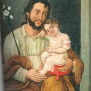 San José y el Niño.|1853? Óleo sobre lienzo. Iglesia de Santa Ana de Garachico