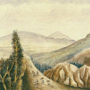 Camino viejo de Las Mercedes. 1849. Óleo sobre lienzo. 41x60 cm. Fondo de la Casa Museo de Ossuna. La Laguna, Tenerife