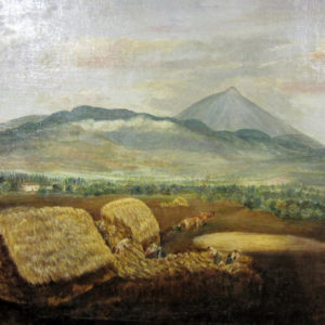 Montículos de paja. Óleo sobre lienzo. 41x60 cm. Fondo de la Casa Museo de Ossuna. La Laguna, Tenerife