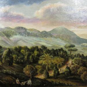 La Quinta del Pino en La Victoria. Óleo sobre lienzo. 41,5x60,5 cm. Fondo de la Casa Museo de Ossuna. La Laguna, Tenerife