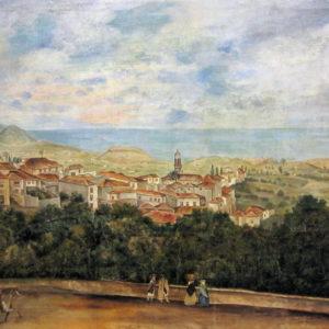 Vista de la Orotava. Óleo sobre lienzo. 60x84,5 cm. Fondo de la Casa museo de Ossuna. La Laguna, Tenerife