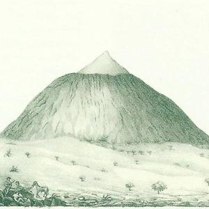 Vista del Pico de Tenerife tomado de Las Cañadas. 1834. Litografía