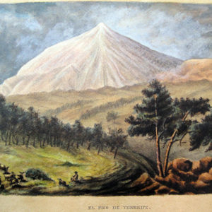 Vista del Teide nevado. Acuarela sobre papel. 35,3x53,5 cm. Fondo dela Casa Museo de Ossuna. La Laguna, Tenerife