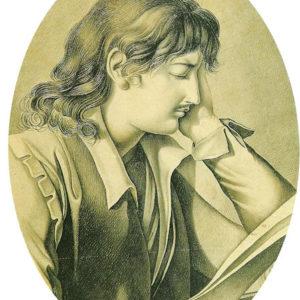 Abelardo.|Hacia 1845. Grisalla y aguatinta. 24x18 cm. Museo Municipal de Bellas Artes. Santa Cruz de Tenerife