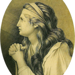 Eloísa.|Hacia 1845. Grisalla y aguatinta. 24x18 cm. Museo Municipal de Bellas Artes. Santa Cruz de Tenerife