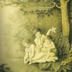 Niños jugando en el bosque.|Hacia 1830. Grisalla y aguatinta. 25x20 cm. Museo Municipal de Bellas Artes. Santa Cruz de Tenerife