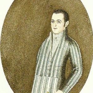 Autorretrato.|1809. Pintura sobre papel. 6,4x5,4 cm. Biblioteca Municipal de Santa Cruz de Tenerife