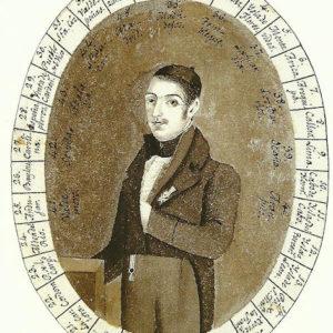 Autorretrato.|1819. Pintura sobre papel. 6,4x5,2 cm. Biblioteca Municipal de Santa Cruz de Tenerife