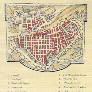 Plano de la ciudad de los Reyes de Lima.|Colección Benítez. Biblioteca Municipal de Santa Cruz de Tenerife