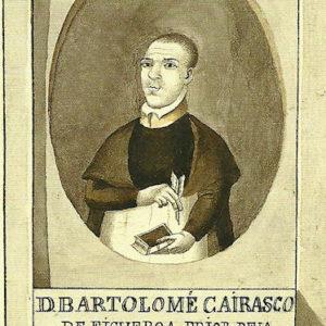 Retrato de Bartolomé Cairasco de Figueroa.|1806-1809. Pintura sobre papel. 12,6x7,9 cm. Biblioteca Municipal de Santa Cruz de Tenerife