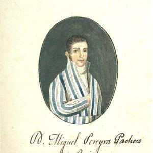 Retrato de Miguel Pereira Pacheco y Ruiz|1809. Pintura sobre papel. 6,5x4,9 cm. Biblioteca Municipal de Santa Cruz de Tenerife