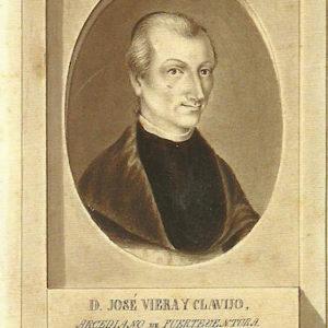 Retrato de D. José de Viera y Clavijo.|1806-1809. Pintura sobre papel.12,6x7,9 cm. Biblioteca Municipal de Santa Cruz de Tenerife