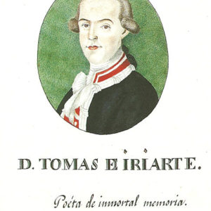 Retrato de Tomás de Iriarte y Nieves Ravelo.|1805. Miniatura a la acuarela. 6,3x5,2 cm. Biblioteca de la Universidad de La Laguna, Tenerife