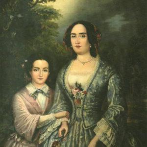 María Dolores y Luisa de León y Joven de Salas.|1853. Colección particular. Las Palmas de Gran Canaria