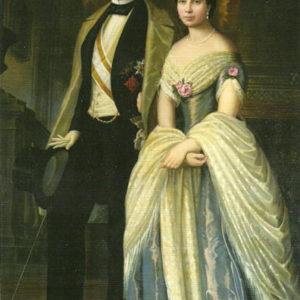Retrato de Cristóbal del Castillo y Luisa Manrique de Lara.|1848. Colección particular. Las Palmas de Gran Canaria