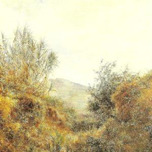 Barranquillo de La Laguna.|Óleo sobre lienzo. 91x69 cm. Museo Municipal de Bellas Artes. Santa Cruz de Tenerife