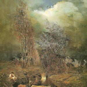 La tarde en La Laguna.|Óleo sobre lienzo. 120x83 cm. Colección particular. Puerto de la Cruz. Tenerife