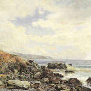 Marina de Santa Cruz.|Óleo sobre lienzo. 108x146 cm. Museo Municipal de Bellas Artes. Santa Cruz de Tenerife