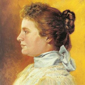 Retrato de su esposa.|Óleo sobre lienzo. 46x37 cm. Museo Municipal de Bellas Artes. Santa Cruz de Tenerife
