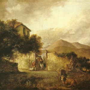 Paisaje.|Óleo sobre lienzo. 36x44 cm. Museo Municipal de Bellas Artes. Santa Cruz de Tenerife
