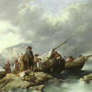Pertrechando las barcas.|1861. Casa de Colón. Las Palmas de Gran Canaria
