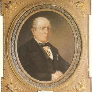 Retrato de don Santiago de la Cruz.|Óleo sobre lienzo. 53x43 cm. Museo Municipal de Bellas Artes. Santa Cruz de Tenerife