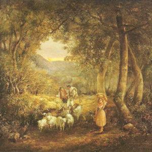 Escena campesina.|c. 1896. Óleo sobre lienzo. 126x76 cm. Excmo. Cabildo Insular de Tenerife