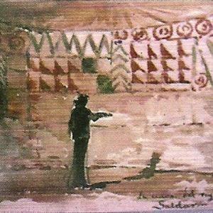 La cueva del rey guanche de Gáldar.|1886. Acuarela sobre papel. 12,5x20,7 cm. Museo Militar Regional. Santa Cruz de Tenerife
