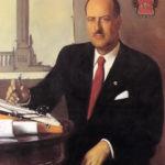 Tomás Machado. Retrato al óleo por Joan Baixas (1947).