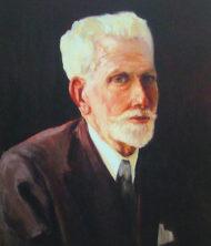 Retrato del Presidente Ángel Romero Mateos.