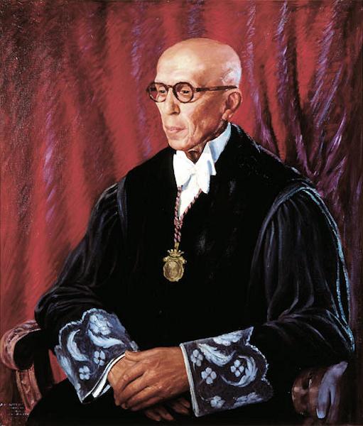 El Presidente Arturo López de Vergara y Albertos retratado por Pedro Guezala.