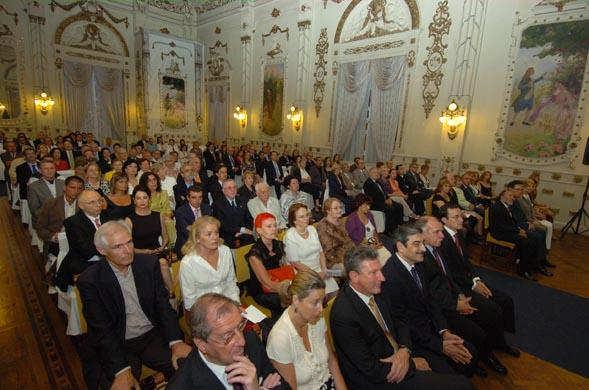 28.04,2008. Aspecto del Salón Noble del Gabinete Literario de Las Palmas G.C. en el acto de ingreso en la RACBA de Guillermo García-Alcalde y Juan Antonio Giraldo.