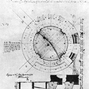 Catedral de Santa Ana. Planta y sección de la linterna del cimborrio. 1796.