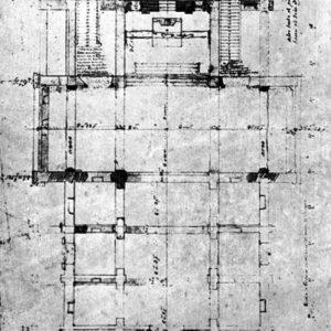 Iglesia de San Agustín. Planta. 1788.