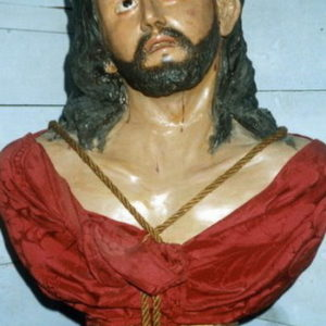 Busto de Cristo (madera policromada), h. 1862.  Ermita de San Sebastián. Santa Cruz de La Palma