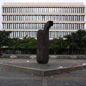 Sede de la Delegación de Hacienda Avenida Marítima. Santa Cruz de Tenerife, 1989 (Foto: F. García Barba)