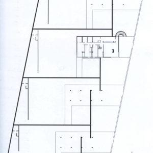 Cuatro viviendas en el Camino Largo. Paseo de la Universidad. La Laguna. 1963 Planta del conjunto