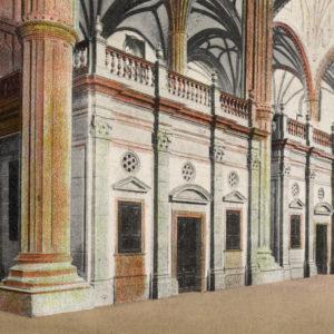 Coro de la Catedral de Santa Ana. Las Palmas de Gran Canaria, 1802. Fotografía coloreada, 1905