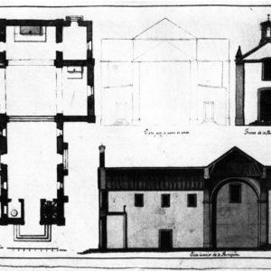 Proyecto de la Iglesia de Cercados de Araña (no construida), Tirajana, Gran Canaria. Hacia 1810
