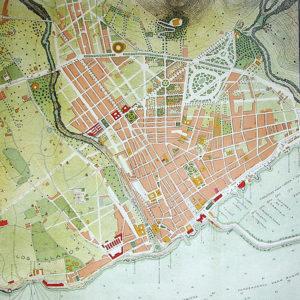 Las principales intervenciones urbanísticas de Antonio Pintor. Plano de la ciudad de Santa Cruz publicado por Hardisson Fréres, 1907.