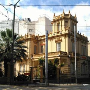 Fábrica de tabacos Victoria y casa Forniés. Rambla de Santa Cruz/ Avenida de Canarias. Santa Cruz de Tenerife, 1922.