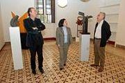 Miguel Zerolo visita la Real Academia Canaria de Bellas Artes de San Miguel Arcángel